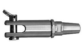 Swageless Jaw - Fork Termainle For Wire 1 x 19